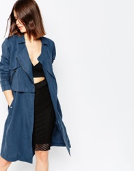 Y.A.S Navy Blue Trench Coat