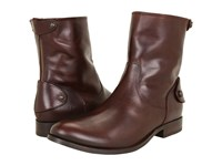 Frye Melissa Button Zip Short Dark Brown Soft Vintage Leather Women's Zip Boots