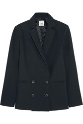 Iris And Ink Lorna Double Breasted Cotton Crepe Blazer