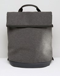 Asos Backpack In Charcoal Marl Scuba Charcoal Grey