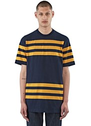 Marni Short Sleeved Striped T Shirt Navy