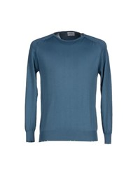 Authentic Original Vintage Style Knitwear Jumpers Men Slate Blue