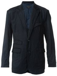 Engineered Garments Pinstripe Blazer Blue