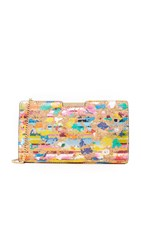 Milly Splatter Cork Frame Clutch Multi