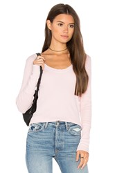 Splendid Nordic Thermal Long Sleeve Scoop Tee Pink