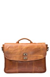 Will Leather Goods Men's 'Kent' Messenger Bag Brown Tan