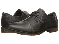 Bed Stu Repeal Black Rustic Leather Men's Lace Up Cap Toe Shoes
