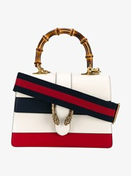 Gucci Dionysus Bamboo And Leather Handbag White Multi Coloured Bamboo Navy Blue Denim