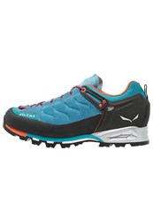 Salewa Mtn Trainer Climbing Shoes Reef Terracotta Light Blue