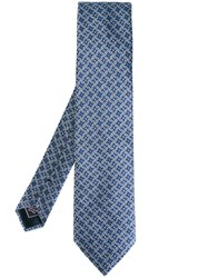 Brioni Chained Pattern Tie Blue