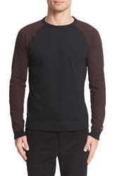 Rag And Bone Men's Colorblock Raglan Sleeve Sweatshirt