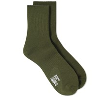 Mt. Rainier Design Reversible Sock Green