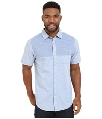 The North Face Short Sleeve Block Me Shirt Moonlight Blue Cosmic Blue Men's Short Sleeve Button Up