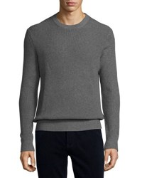 Michael Kors Waffle Knit Pullover Sweater Gray