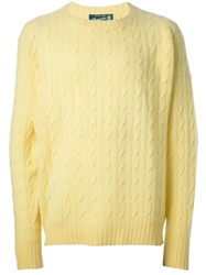 Drumohr Vintage Cable Knit Sweater Yellow And Orange