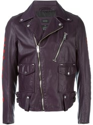 Diesel 'L Beck' Emblazoned Jacket Pink And Purple