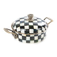 Mackenzie Childs Courtly Check Enamel Casserole Dish Small