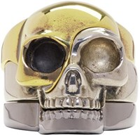 Alexander Mcqueen Multicolor Divided Skull Ring Set