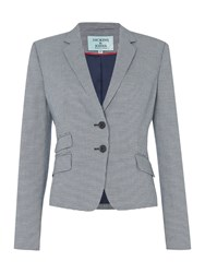 Dickins And Jones Houndstooth Blazer Multi Coloured
