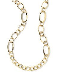 18K Glamazon Multi Oval Shape Necklace 36' Yellow Ippolita