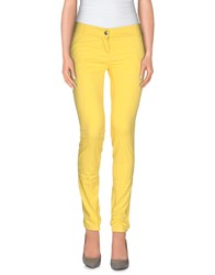 Yes Zee By Essenza Trousers Casual Trousers Women Yellow