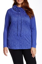 The Balance Collection Pansy Burnout Tunic Plus Size Blue