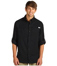 Columbia Tamiami Ii L S Black Men's Long Sleeve Button Up