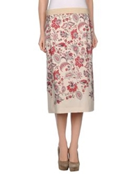 Clements Ribeiro 3 4 Length Skirts Ivory