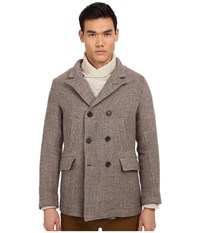 Billy Reid Bond Blended Peacoat Grey Men's Coat Gray