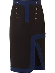 Peter Pilotto 'Track' Pencil Skirt Black