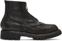 Guidi Black Leather Zip Boots