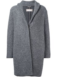 Fabiana Filippi Shawl Lapel Coat Grey