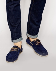 Jack And Jones Jack And Jones Singapore Suede Boat Shoes Blue