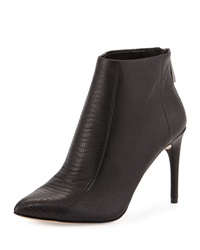 Bcbgmaxazria Cara Embossed Pointed Toe Bootie Black