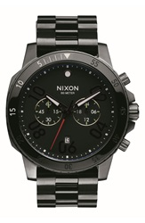 Nixon 'Ranger' Chronograph Bracelet Watch 44Mm Black Gunmetal