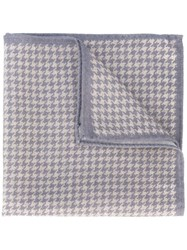 Eleventy Houndstooth Pocket Square Nude And Neutrals
