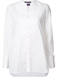Y's Front Pad Blouse White