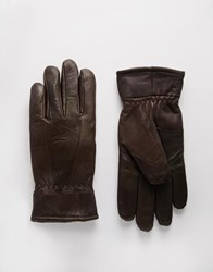Peter Werth Leather Gloves Brown