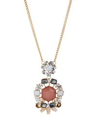Greenbeads By Emily And Ashley Mixed Rhinestone Pendant Necklace Peach
