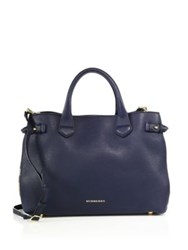 Burberry Banner Medium Leather And House Check Satchel