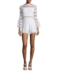 Alexis Jinna Lace Bell Sleeve Romper White Women's