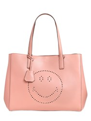 Anya Hindmarch Edbury Smiley Perforated Leather Tote