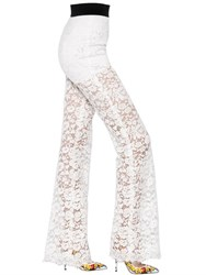 Dolce And Gabbana Flared Cordonetto Lace Pants