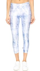 Zara Terez Acid Wash Denim Performance Leggings Multi
