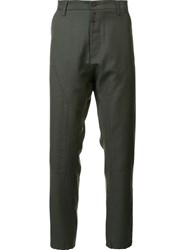 Oamc Panelled Trousers Green
