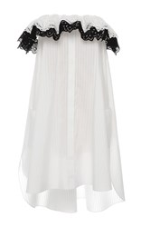 Alexis Mabille White Corolla Bustier Dress