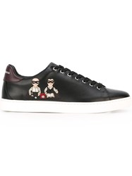 Dolce And Gabbana Designers Patch Sneakers Black