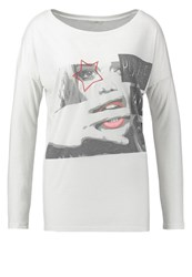 Guess Play The Game Long Sleeved Top Blanc Multicolor White