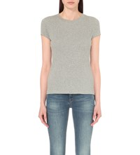 Mih Jeans Range Cotton Jersey T Shirt Light Grey