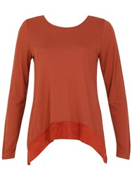 Izabel London Lace Up Back Detail Top Orange
